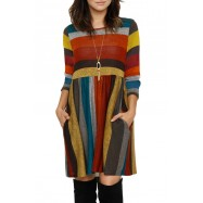 ROBE TUNIQUE MULTICOLORE MELANIA