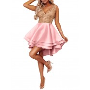ROBE A SEQUIN EVARINE PINK/GOLD